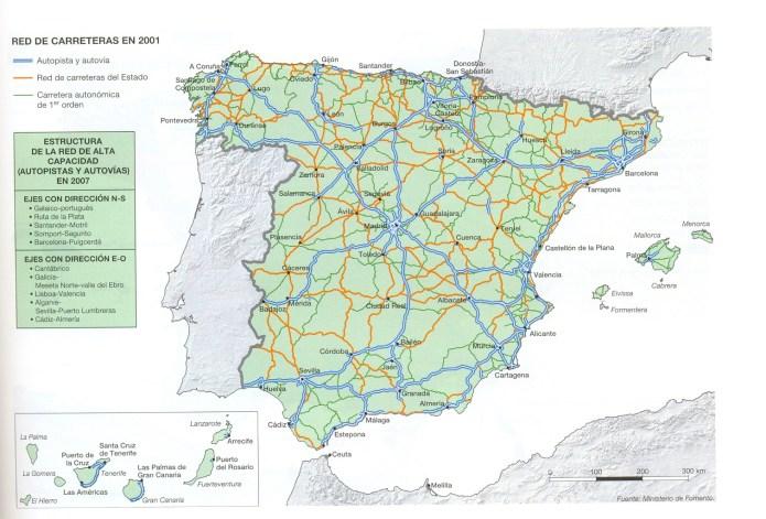 Practica 13 Comentario Del Mapa De Carreteras De Espana