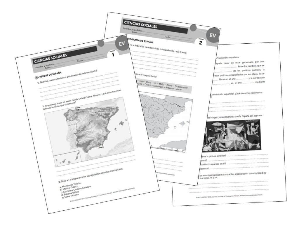 Evaluaciones propuestas \'APRENDER ES CRECER\' (ANAYA) [CCSS6]