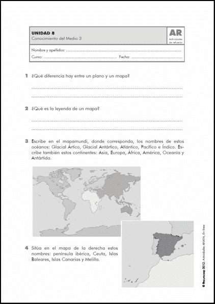 Actividades De Refuerzo De Ciencias Sociales 3 º De Primaria Ar Ccss3