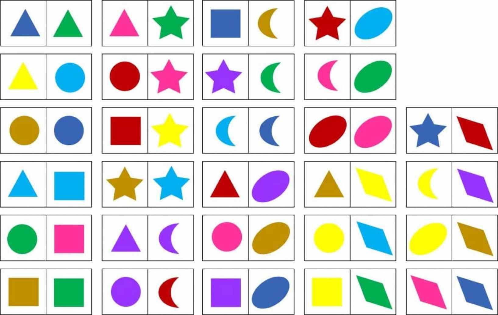 5 Dominos Descargables Para Educacion Infantil Numeros Formas Y