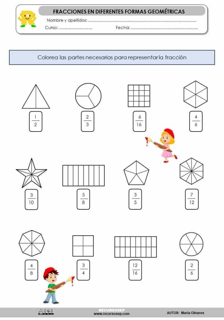 Representamos Fracciones En Figuras Geometricas