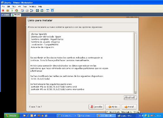 Instalacion de UBUNTU-Resumen