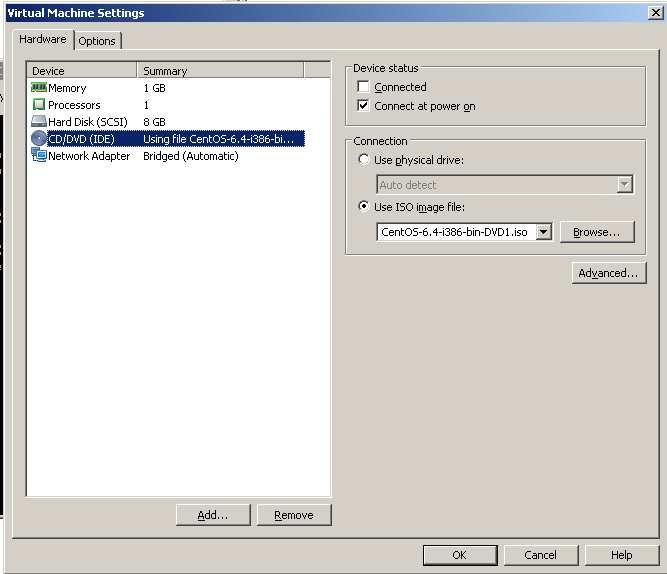 Vmware player, cambiar CD de arranque