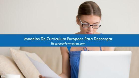 Modelos De Currículum Europeos Para Descargar