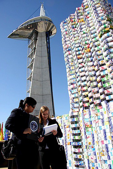 Castle Made From 50000 Upcycled Milk Cartons Guinness