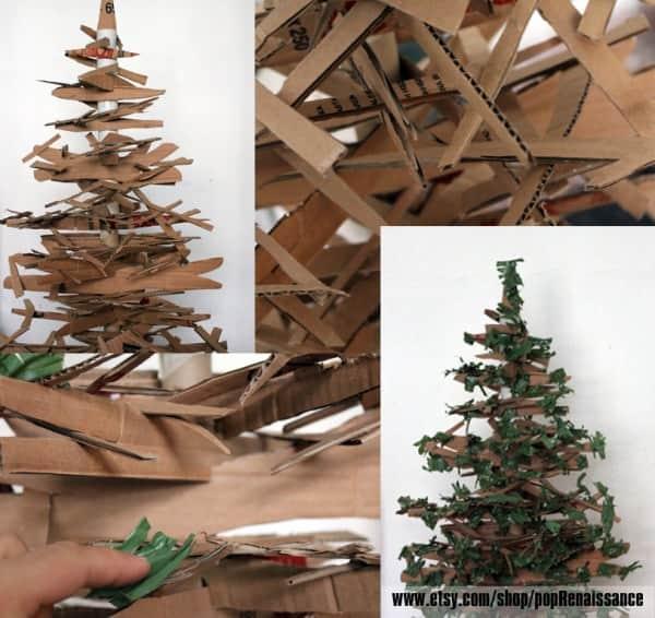 Eco Friendly Christmas Tree From Cardboard Recyclart