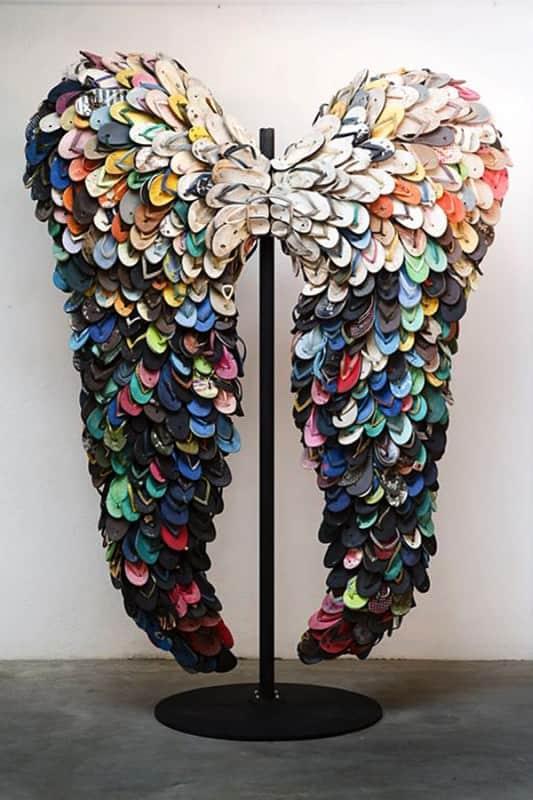 Flipflops Angels Wings Recyclart