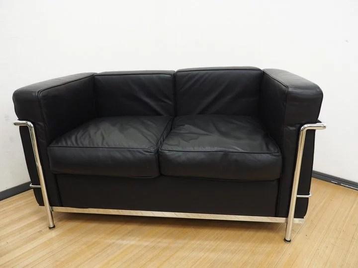 IDC大塚家具 ル・コルビジェ LC2/グラン・コンフォール ソファ 2人掛けを世田谷区にて出張買取しました。