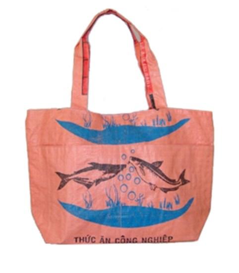 Recycled Fish Feed Pocket Tote Bag 1