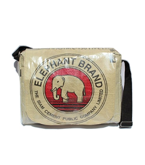Recycled Elephant Brand Cement Deluxe Messenger Bag 2