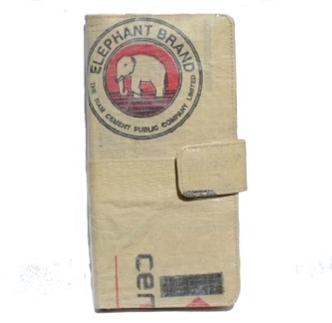 Elephant Brand Recycled Deluxe Travel Passport Wallet Made in Cambodia