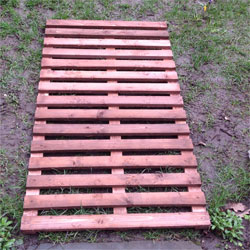 Wooden Puddle Duck Boards - Garden Track