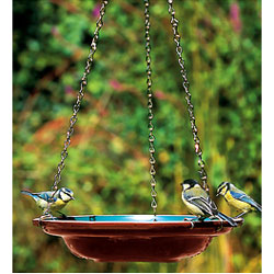 Ceramic Hanging Bird Bath Water Dish