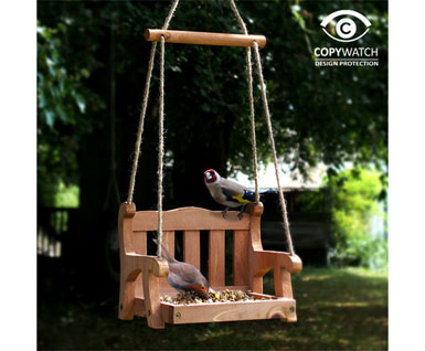 Wooden Swing Seat Bird Feeder