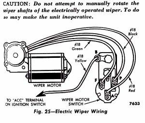 1956 F100  Electric Wiper Switch Wiring Problem  Ford
