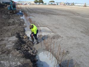 Parts Warehouse, Campbellfield looks like a mud-field but real progress is being made!
