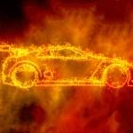 Digital illustration Flame Car