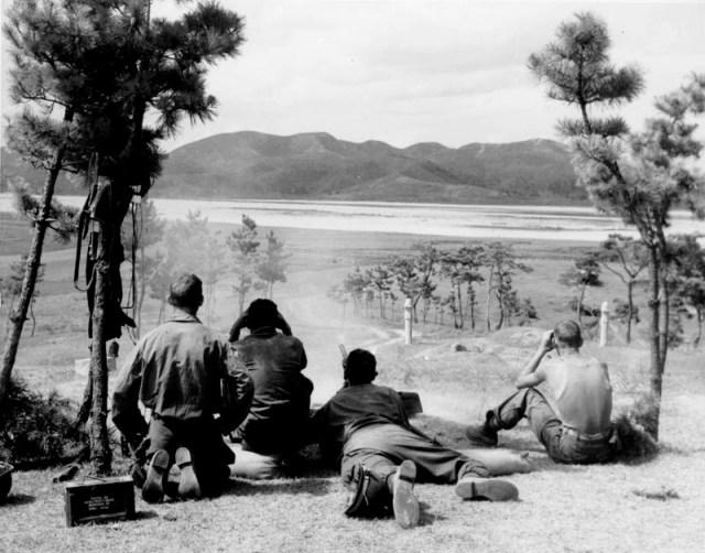 Soldados preparándose para una de las batallas del río Nakdong. Foto: Wikimedia.