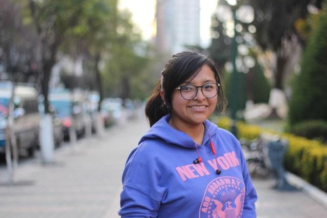 Fabiola Acarapi Álvarez en La Paz, en agosto de este año. Foto: JS.