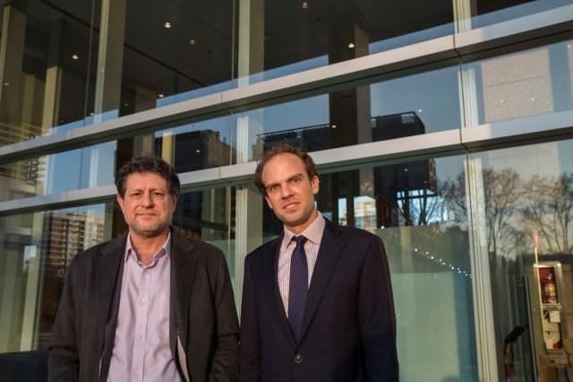 Carl Frey junto a Eduardo Levy Yeyati, luego de la charla. Fotos: Secretaría de Cultura de la Nación.