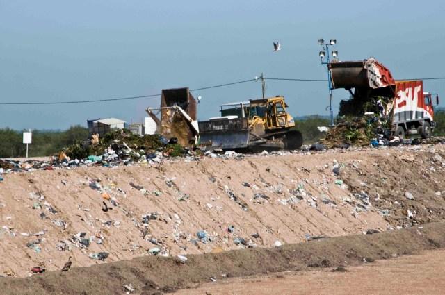 El relleno sanitario de Ensenada recibe basura de municipios del sur bonaerense. Crédito: CEAMSE