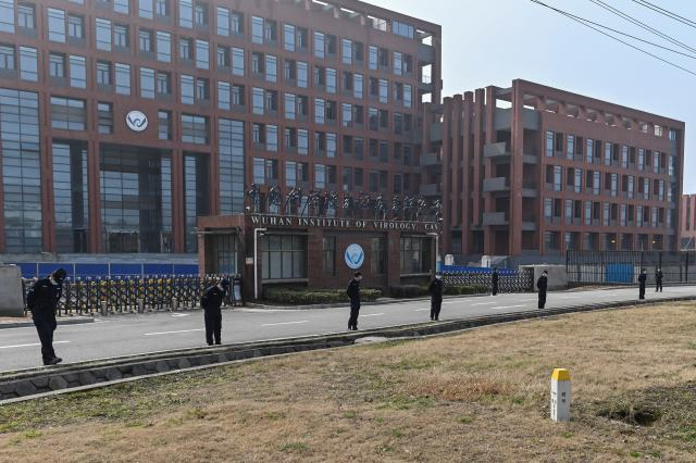 El frente del edificio del Instituto de Virología de Wuhan