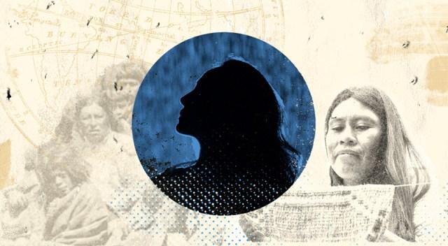 Una ilustración con una mujer indígena de Argentina.