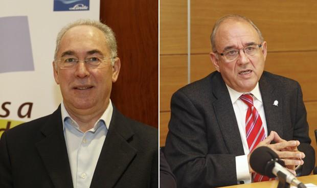 Francisco Miralles, secretario general del sindicato CESM, y Juan José Rodríguez Sendín, presidente de la OMC.