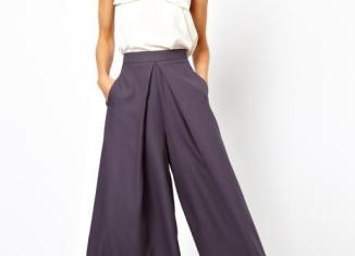 Noua tendinta: pantalonii evazati.