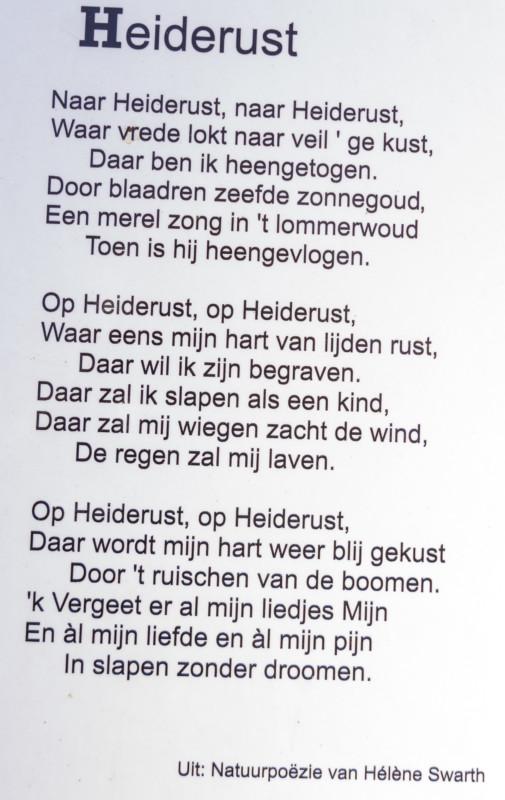 Gedicht Heiderust