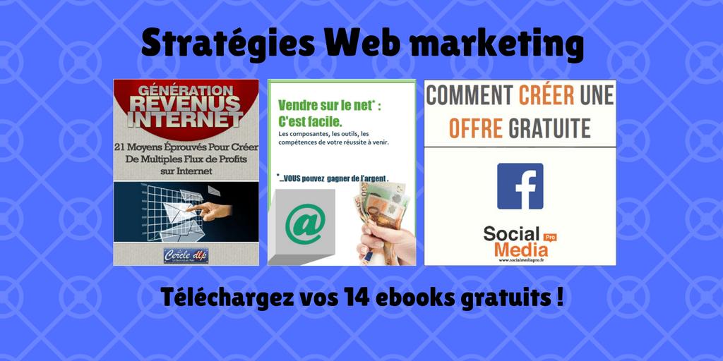 Votre pack 'Stratégies Web Marketing': 14 ebooks gratuits