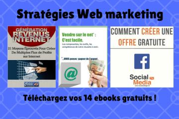 Stratégies Web marketing ebooks gratuits