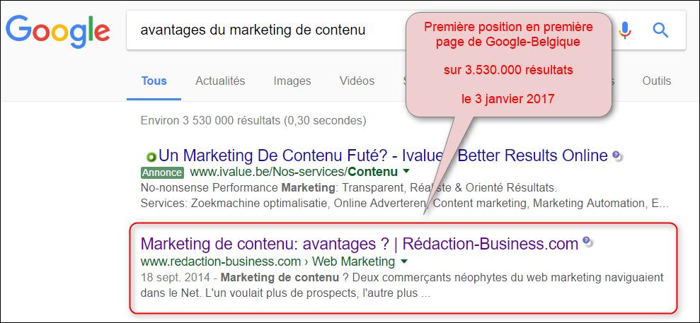 pack contenu textuel optimise google marketing de contenu