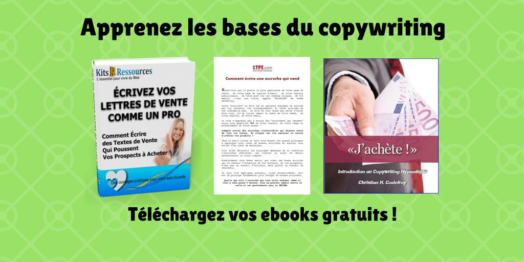 4 ebooks gratuits pour s'initier à l'écriture de textes de vente