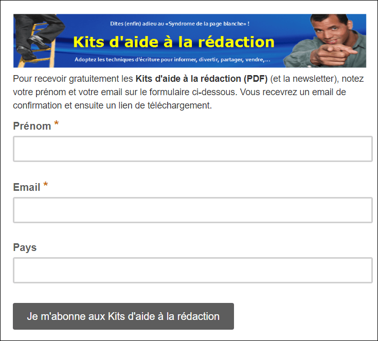 ebook promotionnel kits aide redaction