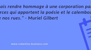 calembour enseigne citation Muriel Gilbert