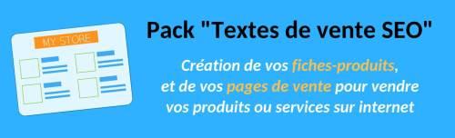 pack rédactionnel Textes de vente SEO