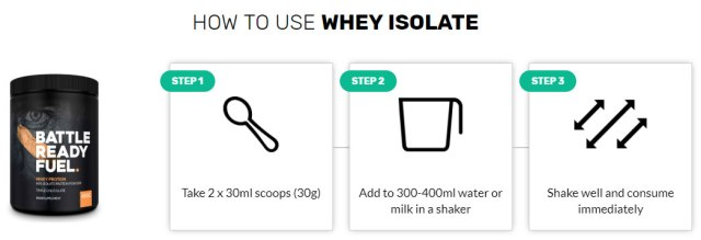 Whey protein powder dosage