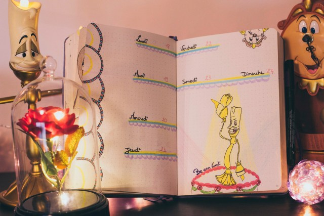 Bullet journal mars 2019 par Red Amentia la belle & la bête