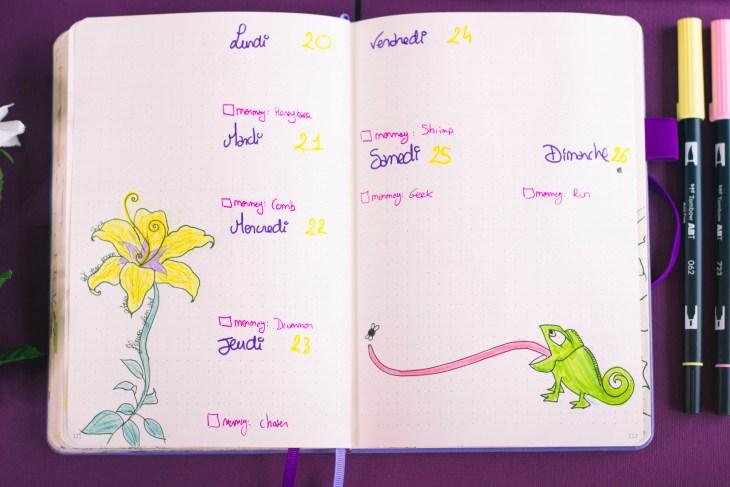 Bullet journal mai 2019 : Raiponce (Tangled, Disney)