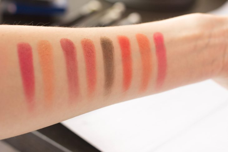 Swatches Huda beauty obsession palette ruby