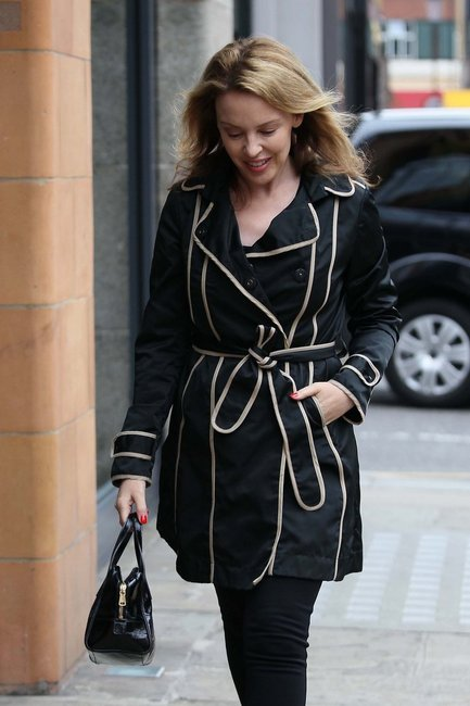 Kylie Minogue + Fay trench