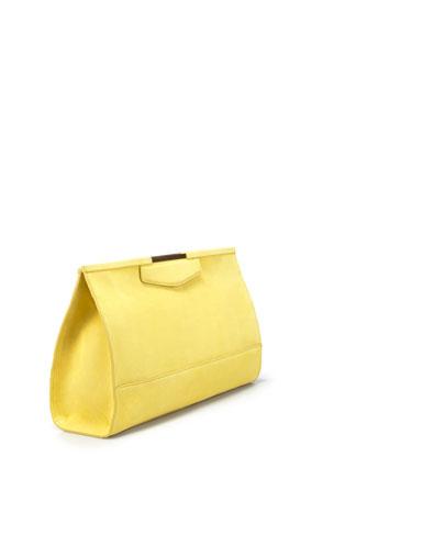 Zara clutch gialla
