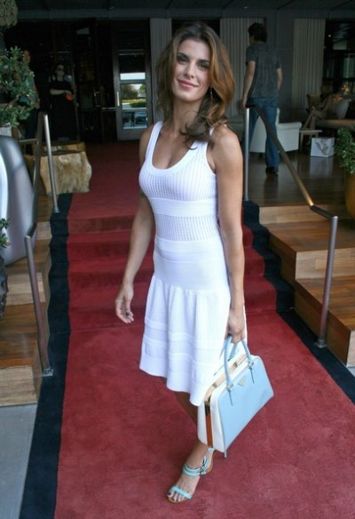 Elisabetta Canalis con borsa Prada agli MTV Movie Awards 2012