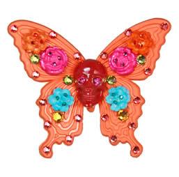 Tarina Tarantino anello a farfalla con teschio