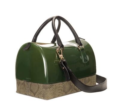 Furla Candy Bag Verde Oliva + Rettile