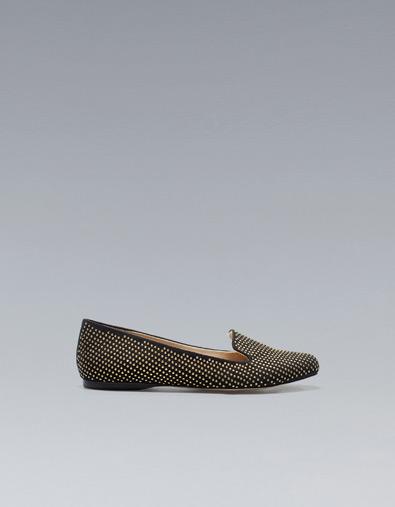Zara slippers mocassini con borchie