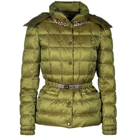 Fay giacca piumino verde con cintura