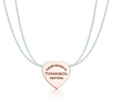 Tiffany collana in argento con cuore in Rubedo – Anniversario
