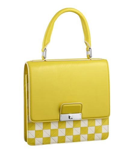 Vuitton borsa gialla Mini Damier